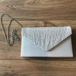Handbags - Silver Crossbody/Clutch with Crystals Wedding/Prom